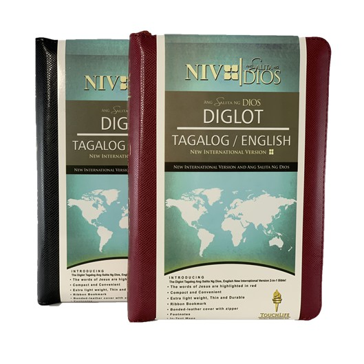 ASD (Ang Salita Ng Dios) & NIV (New International Version) Diglot Full  Bible Flex with Zipper