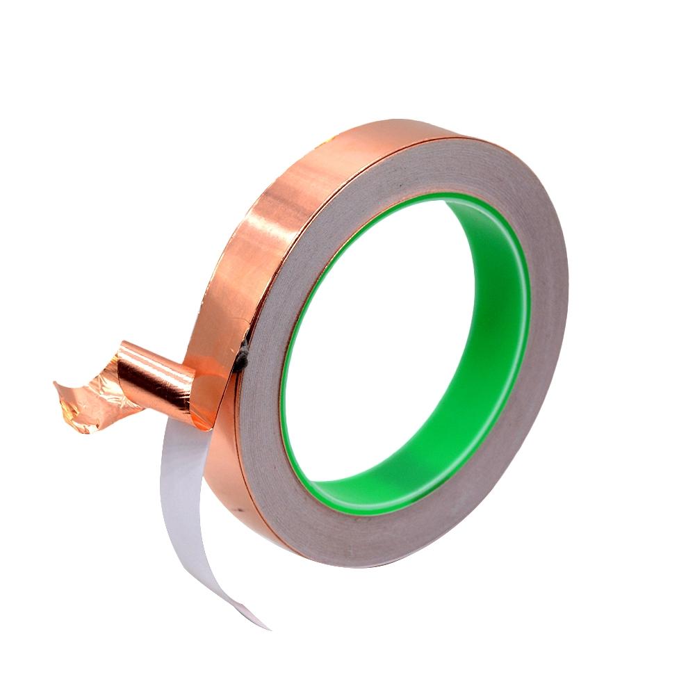 1PC Copper Foil Tape 3mmx50m Conductive Retardant Flame Resistance UV Shielded