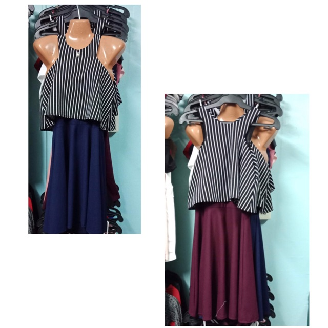 👒AOB: Razorback Two Tone Stripe Dress