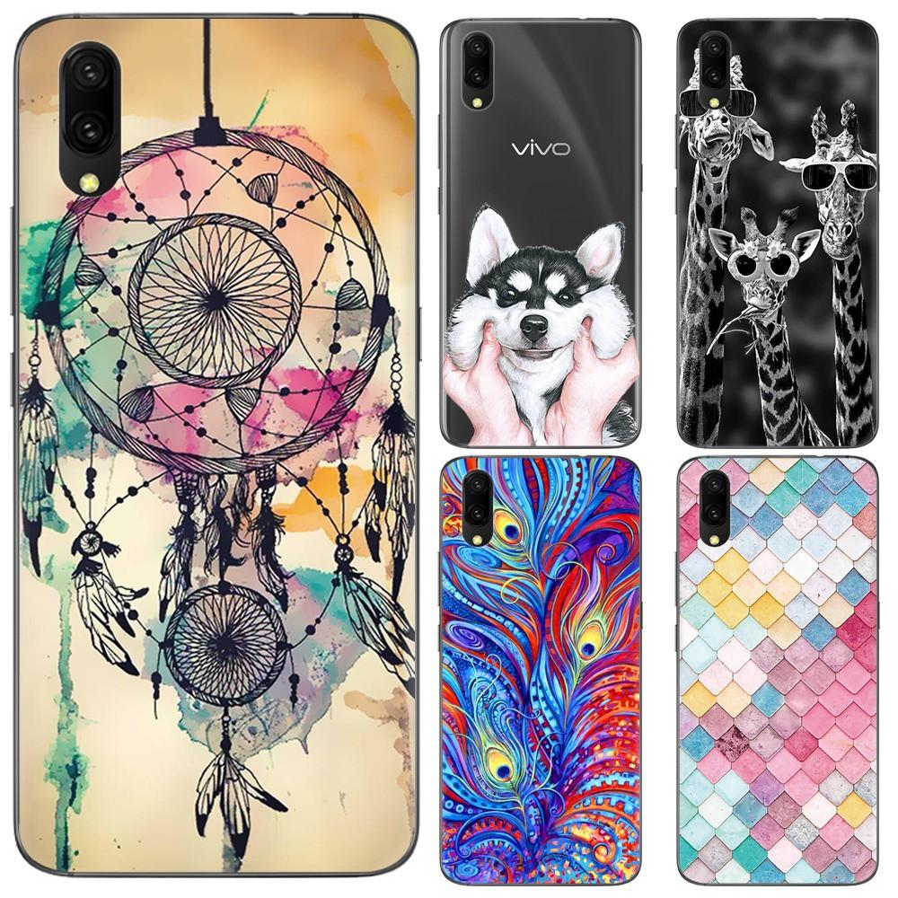 Vivo V11 Phone Casinggradient Glass Back Case Thin Cover V5 Plus V5plus Elegant Retro Flip Leather Shopee Philippines