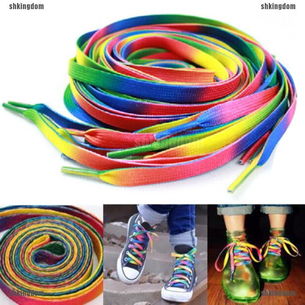 2x Shiny Gold Silver thread Shoelaces Sport Sneakers Flat Bootlaces Shoe laces