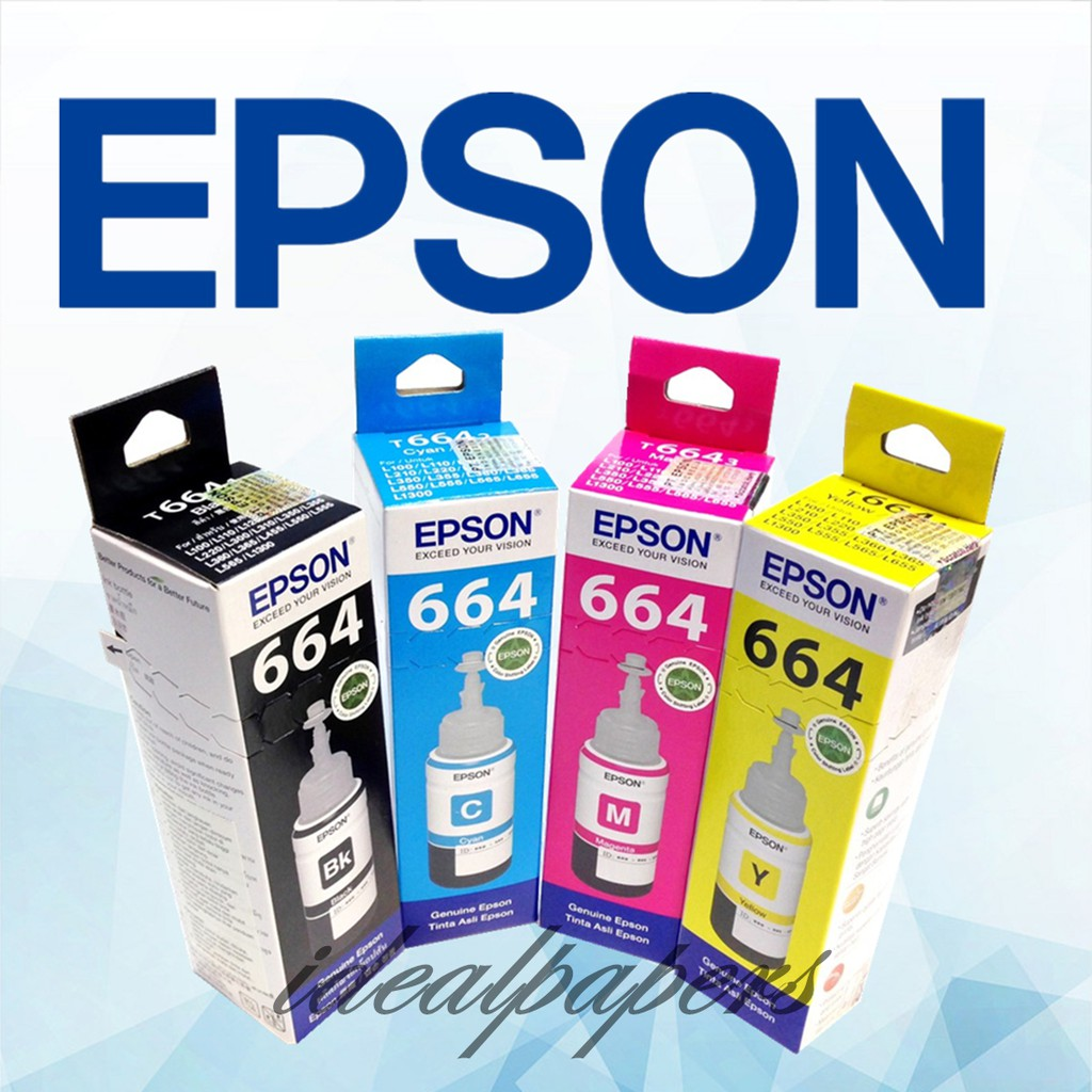 genuine original epson 664 ink bottle 70ml ( C M Y K ) L120 L360 L220 L365  ink