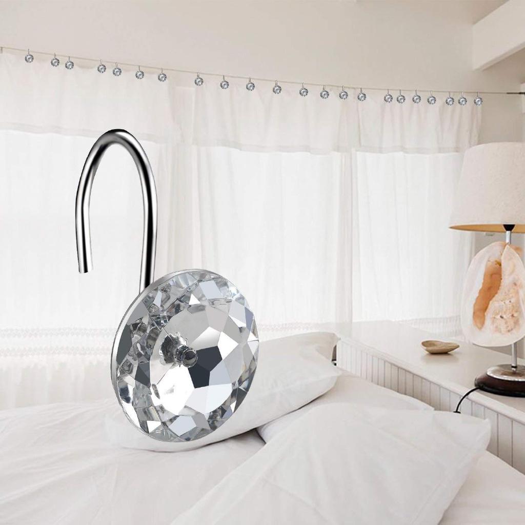 Hook Acrylic Diamond Hook Shower Curtain Hook