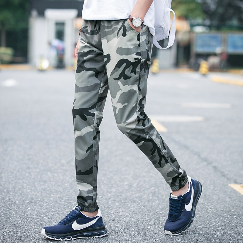Men's fashion Active Harem Chino Jogger Camouflage Pants