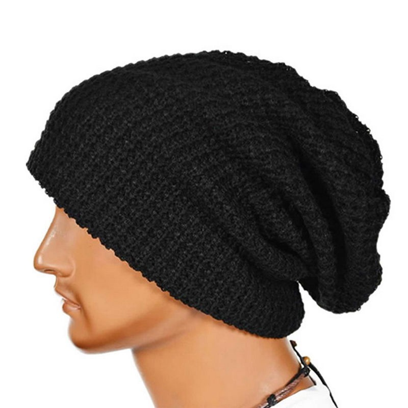 xj Pure Color Unisex Beanie Knitting Yarn Hat YH0462  7ddb1aa92d7