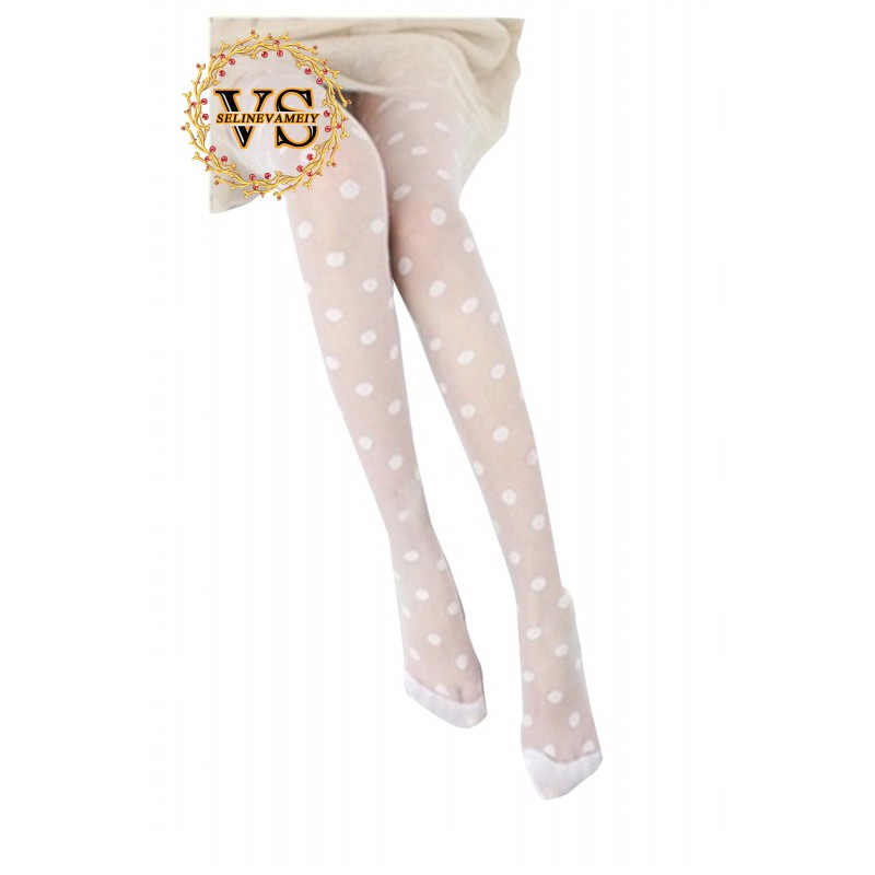 ef613aeed5e New Fashion White Sheer Polka Dots Stockings Tights One size ...