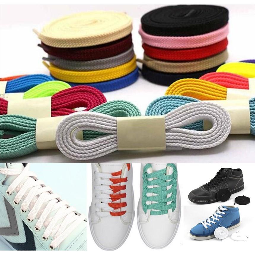 Shoelaces Muti Color Thick Flat Bootlace Sneaker Shoe Laces Shoe Strings HOT