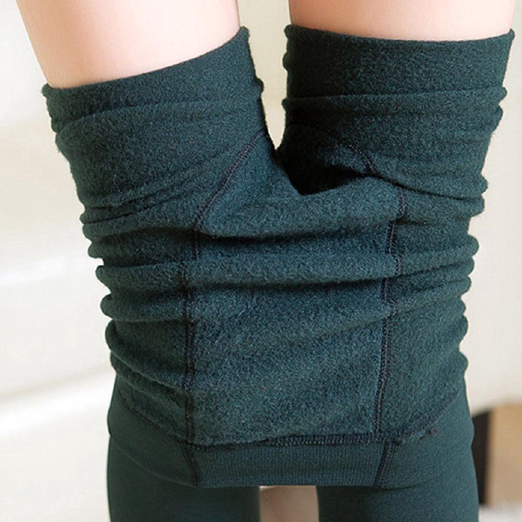 0e3245a911fb44 Women Winter Thick Warm Fleece Lined Stretchy Leggings Pants ...