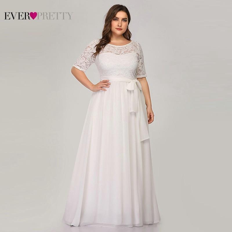 Lace Wedding Dresses A-Line Half Sleeve