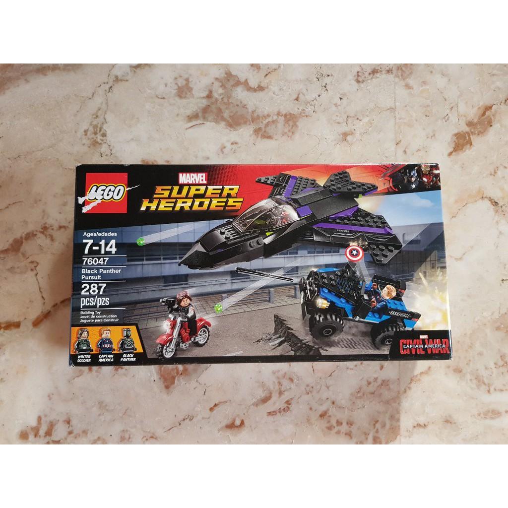 Marvel Black 76047 Heroes Panther Pursuit Super Lego GUVSLzMpq