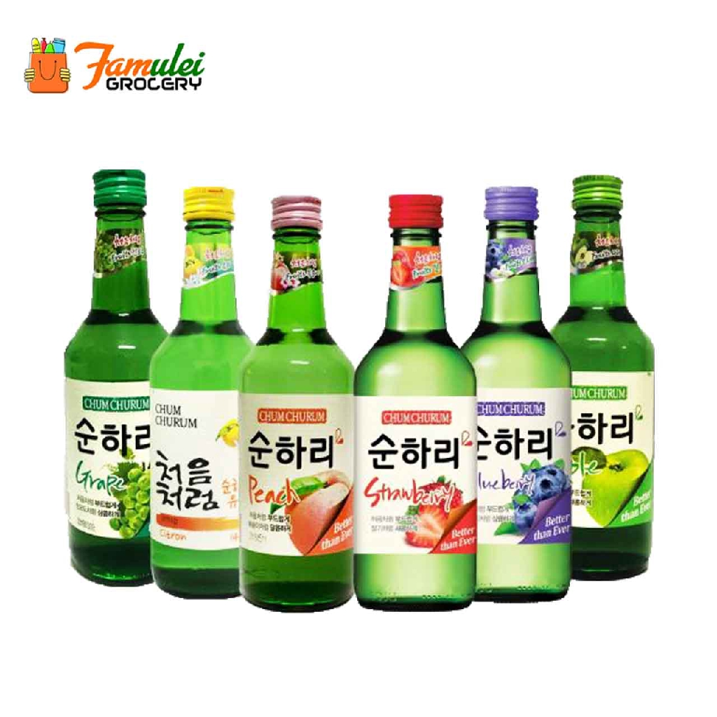 Lotte Chum Churum Soju - Apple Flavour 12% Alc 360ml