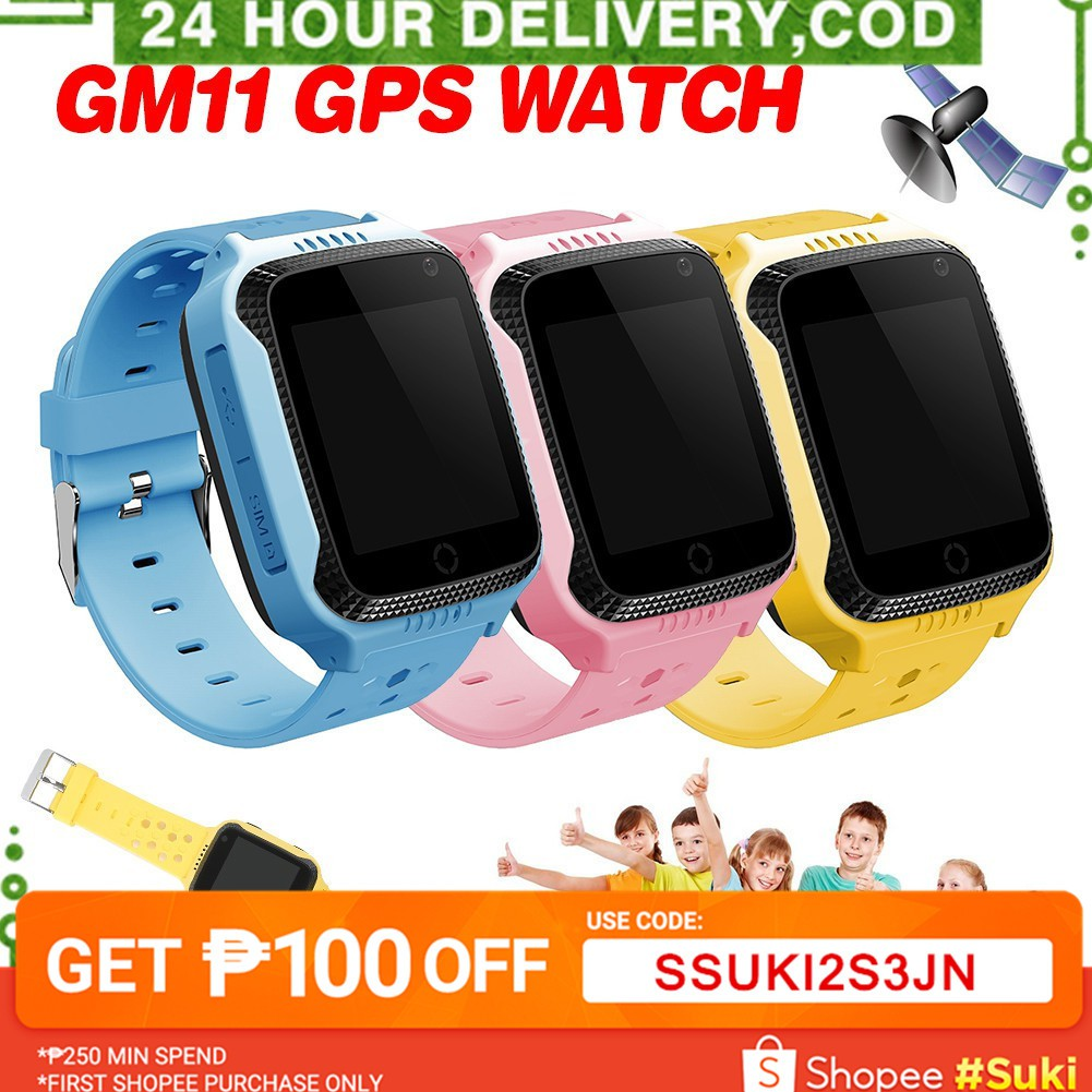 GM11 Waterproof GPS Kids Smart Watch Tracker SOS Anti Lost Watch For Android