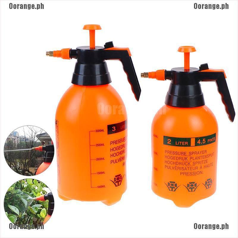 2 Liter Pressure Spray Bottle Portable Adjustable Chemical Sprayer Handheld New
