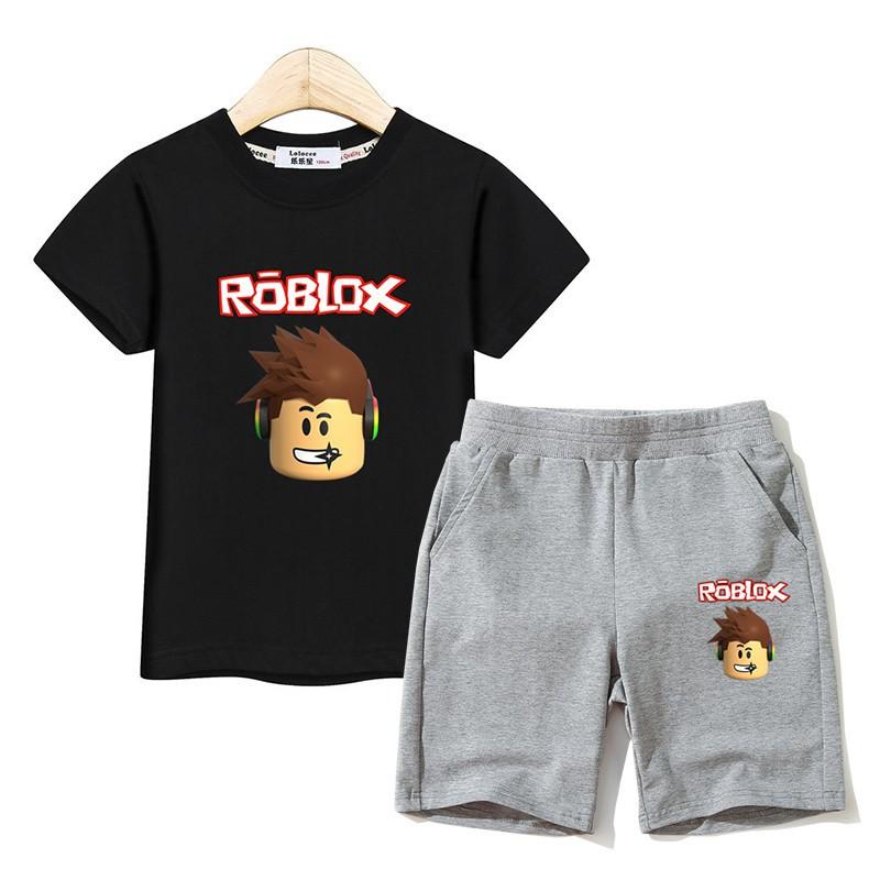 boy outfit roblox Kids Fashion Suit Roblox Clothing Boys T Shirt Pants Sets Boy Costume 2pc Set Shopee Philippines