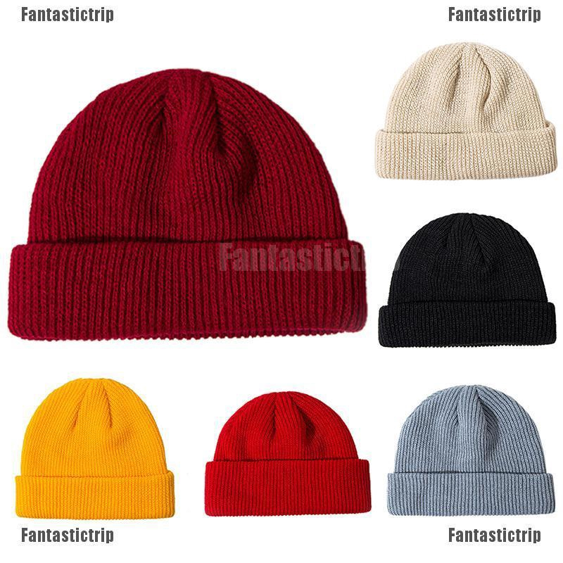 c26129702 Unisex Men Women Beanie Hat Warm Ribbed Winter Turn Ski Fisherman Hat  Fashion
