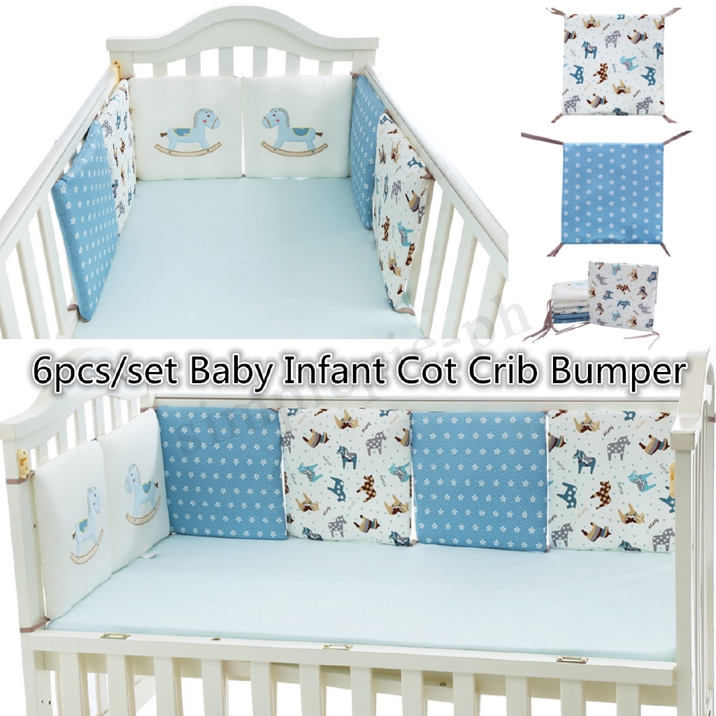 Cotton Baby Crib Liner Baby Crib Bumper Baby Bed Around Monkey Bedding Set 6 Pcs Safe Baby Bedding Mother & Kids