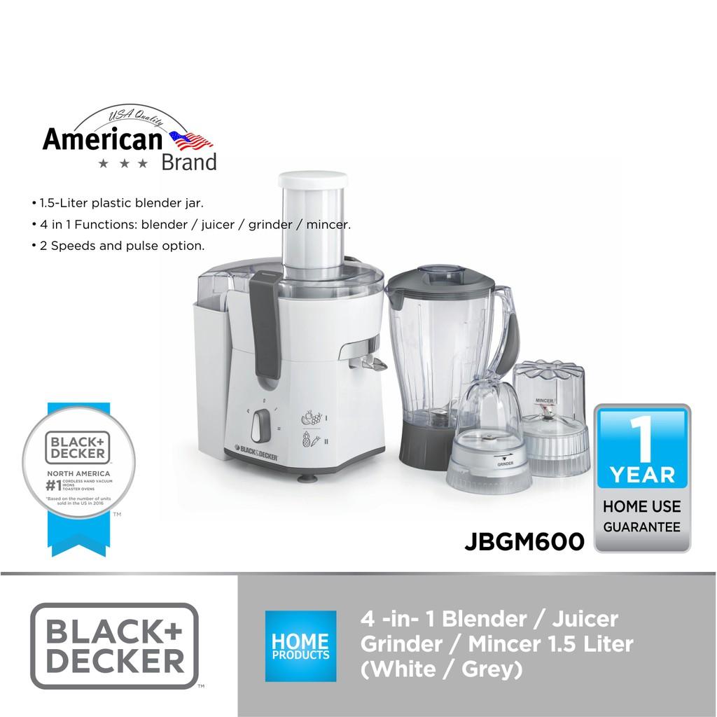 a244de6bf07 Black + Decker 4-in-1 Blender  Juicer Blender Grinder Mincer ...