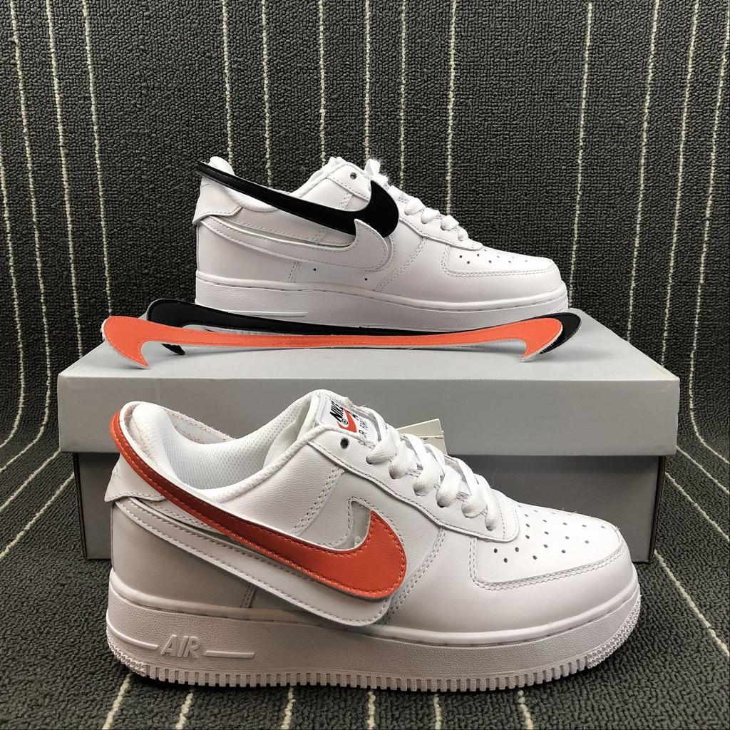sistema Ingresos enfermedad  Nike Air Force 1 Swoosh Pack Triple White   Shopee Philippines