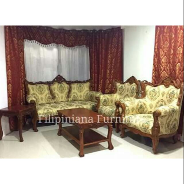 6 Pcs Victorian Sala Set Made Of Narra Wood Shopee Philippines