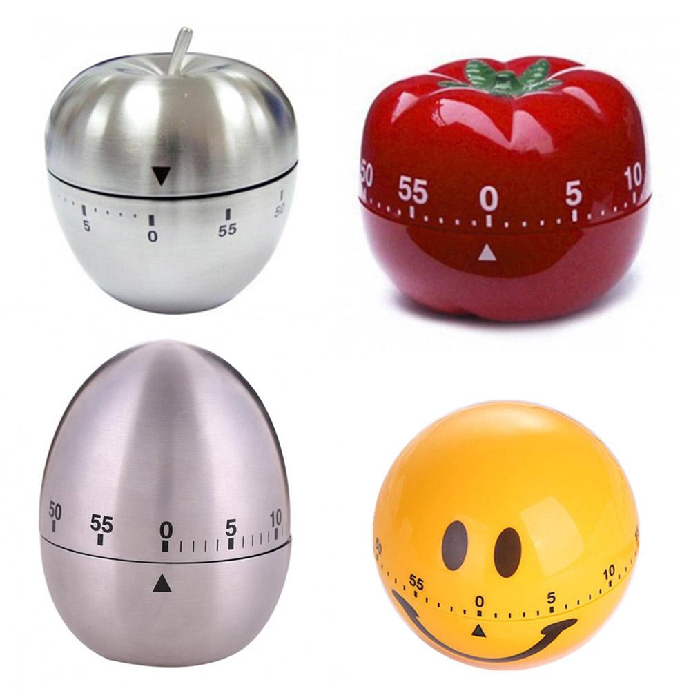 Apple muti-shape Steel 60-Minute Kitchen Timer V6W3