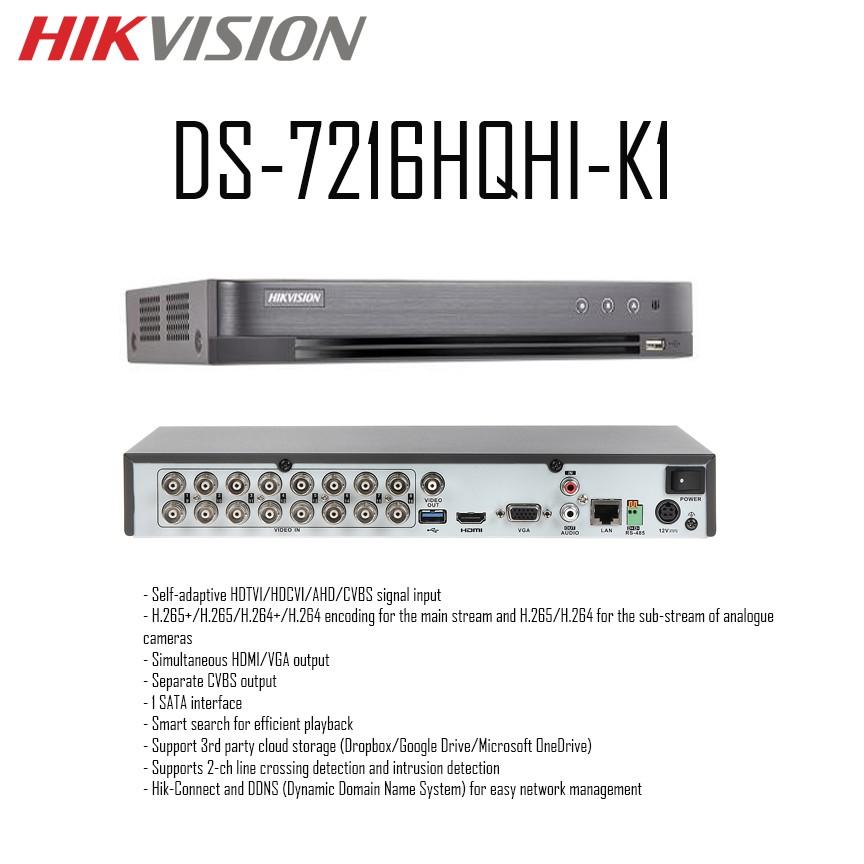 Hikvision | DS-7216HQHI-K1 | Digital Video Recorder (DVR)