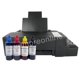 Epson L120 ink Tank Printer w/ Premium Dye inks set of 4