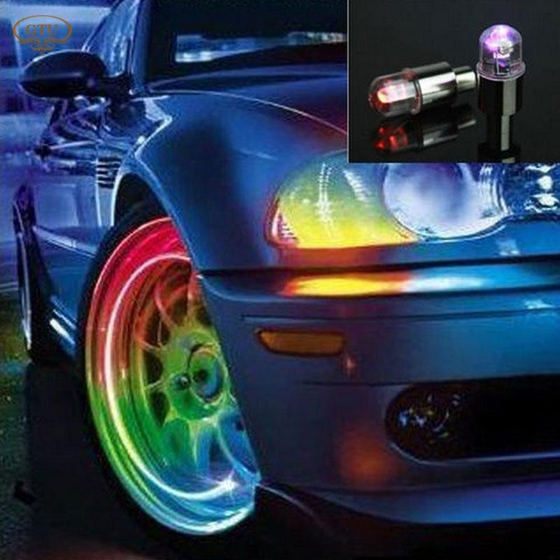Multicolor Motion Activated Car Bike Motorcycle wheel Valve Cap LED Glow Lights