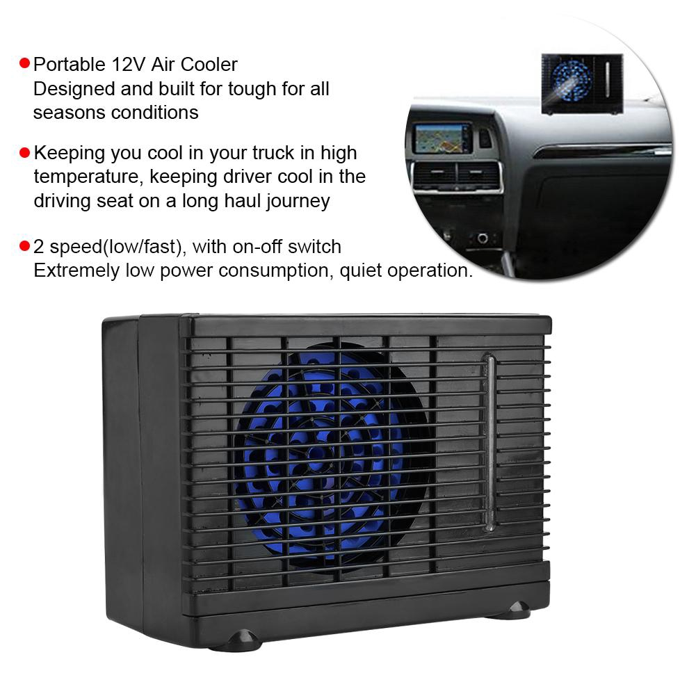 Portable 12V Auto Car Electric Air Cooling Fan 2 Speeds Switch with Suction Cup