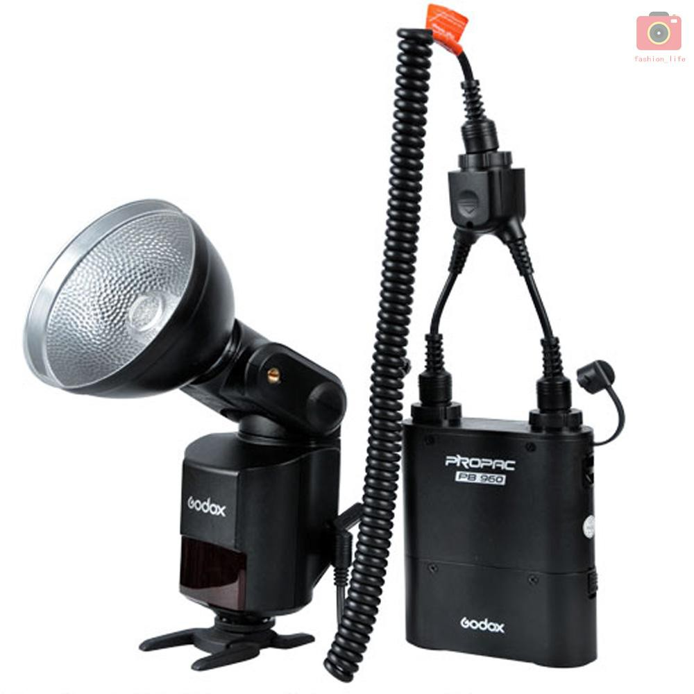 GODOX DB-02 Y-type Portable Power Pack Converter Cable 2 to 1 for PROPAC Lithium Power Pack PB960 and Speedlite AD360 AD180