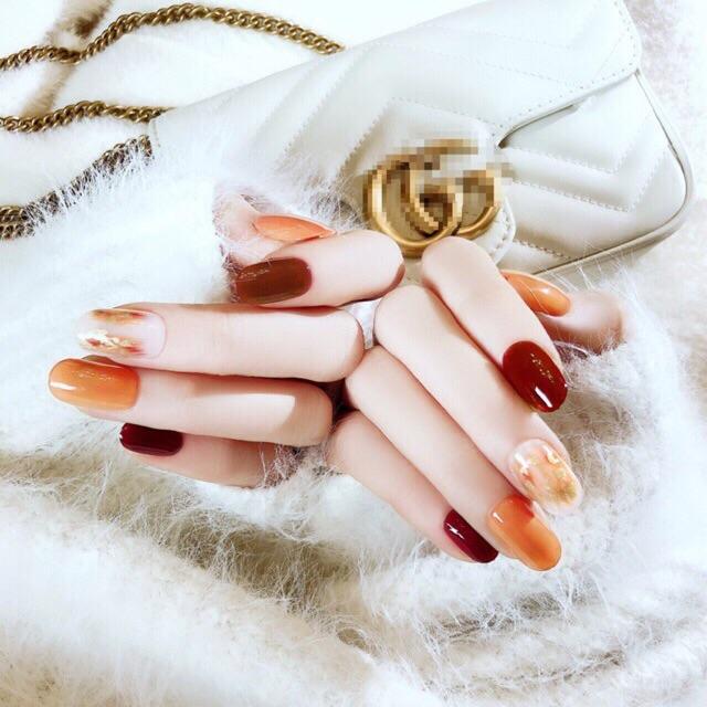 24pcs Clear Light Pink Short Fake Nails Red Sexy Nails