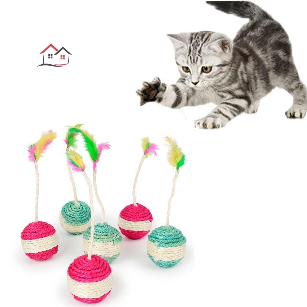 4pcs Scratch Toys Cat Rolling Scratching Post Cat Rolling Balls Cat Scratching Board Cat Toys Random Colour