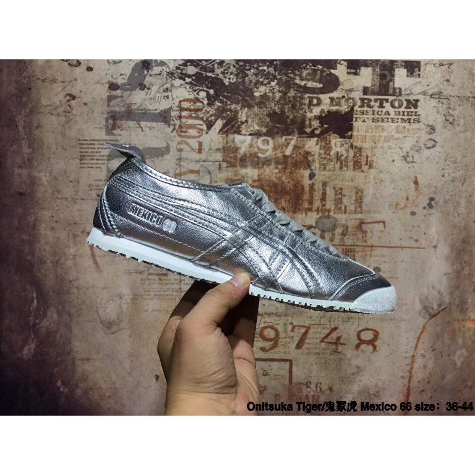 separation shoes c7460 264cc new arrive Asics Onitsuka Tiger MEXICO 66 silver color men w