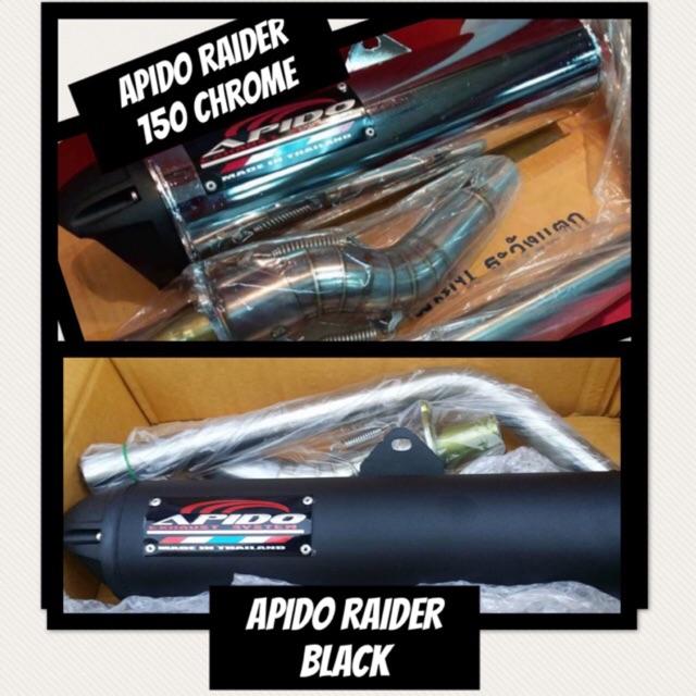 ✔️ APIDO PIPE RAIDER 150 (CARB TYPE) BLACK / CHROME