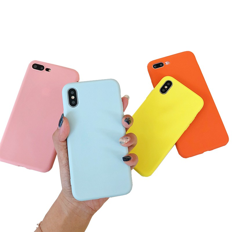 sneakers for cheap 282b1 175bf iPhone Case 6 6s 7 8 Plus X 10 Candy Plain Silicone Case