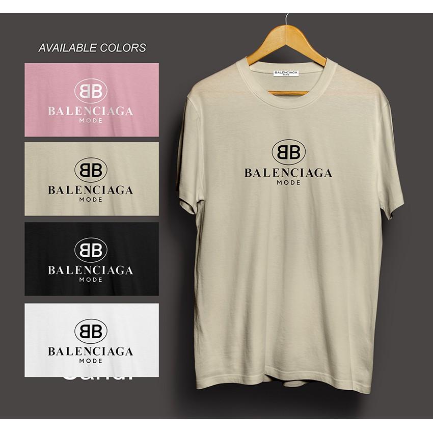 1732ce25 Balenciaga Mode Logo Tee   Shopee Philippines