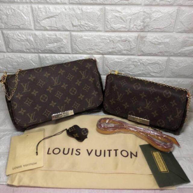 bff81b0b1 LV FAVORITE Handbag Sling Bag SMALL MEDIUM 2 in 1 #850950 | Shopee ...