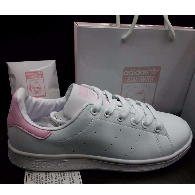 regarder 6a2d9 71603 Adidas Stan Smith White Pink (OEM _ Premium Quality ...