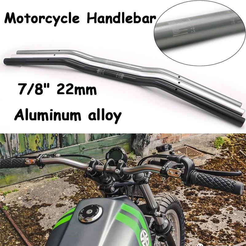 "Motorcycle Racing Bikes Aluminum 7//8/"" Hand Grips Handle Bar For Kawasaki Suzuki"