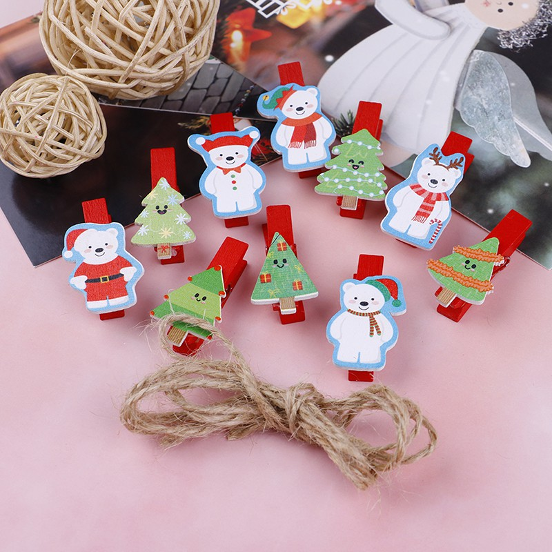 1pc Snowflake Pattern Wooden Sleds Boots Christmas Xmas Tree Hanging Pendant Random Color Diamond