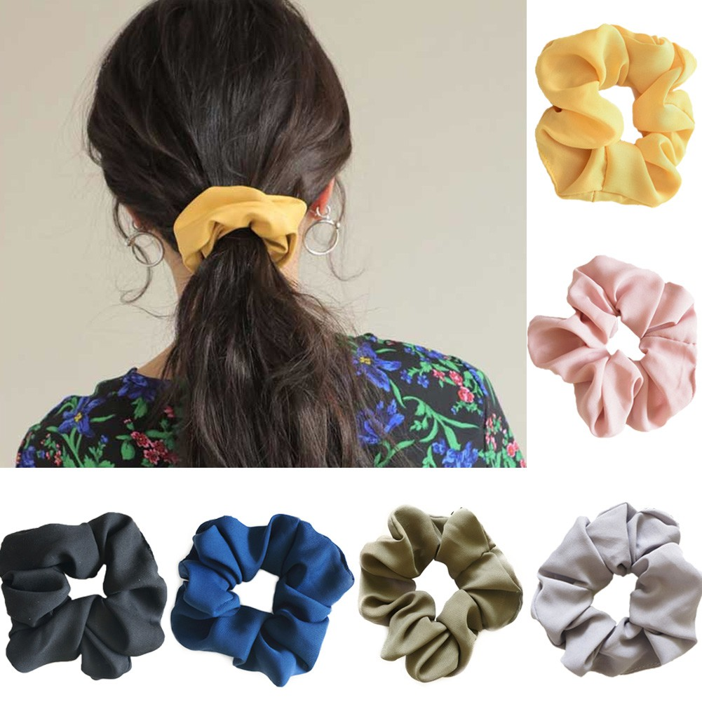 Set of 3 Floral Small Elasticated Ribbon Style Hair Ties Bobbles Elastics Bands
