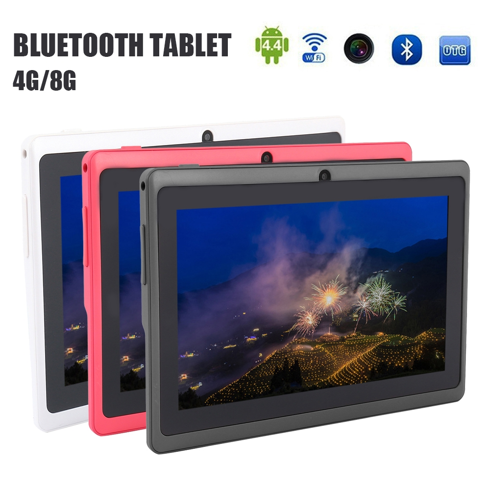 7 Inch Android Tablet Quad Core 16GB Rom Dual Camera Bluetooth Kids Tablet  PC