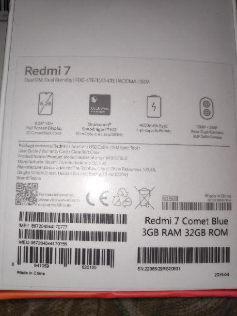 Xiaomi Redmi 7 Snapdragon 632 Smartphone Global Version