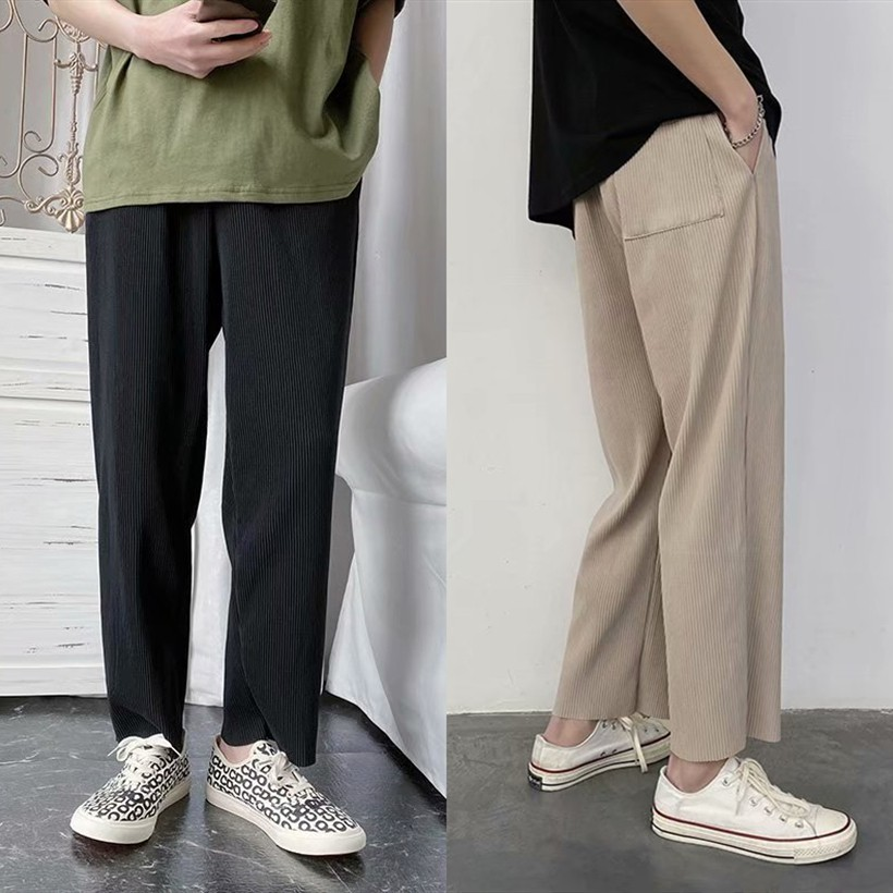 Thin Section Casual Trousers Men Loose Wide leg pants