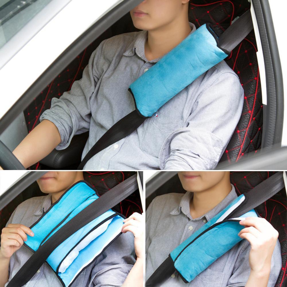 2Pcs Soft Suede Seat Belt Shoulder Pad Shoulder Strap Covers for Kids Adults