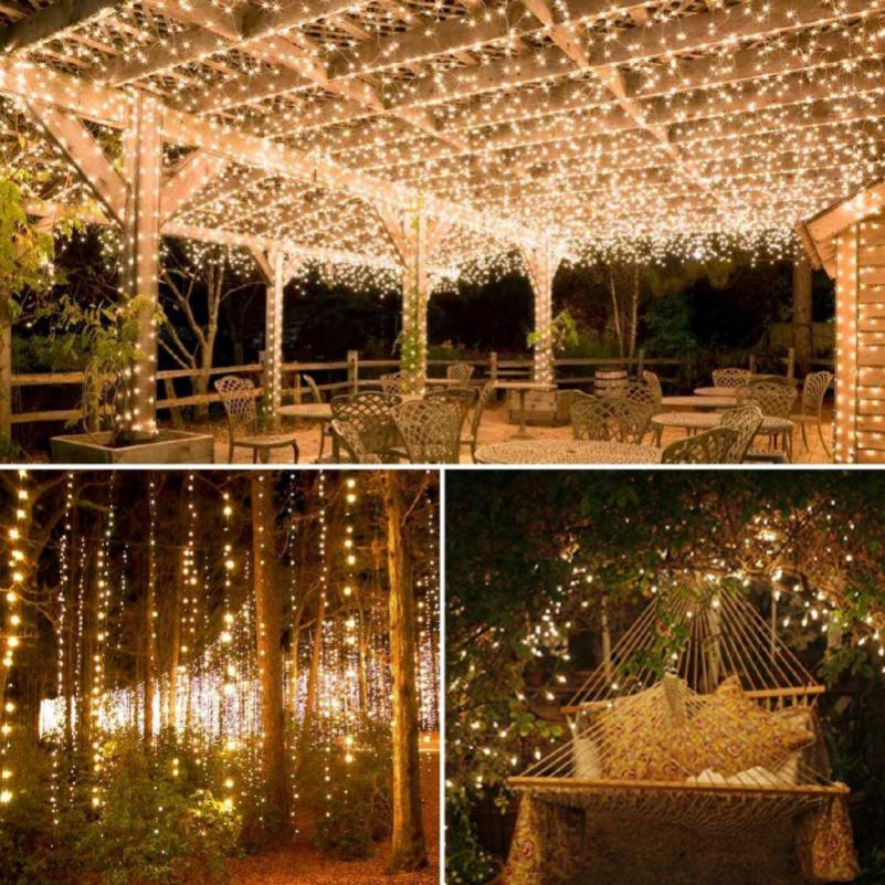 huge discount 9d654 8f9fa 10M Solar Copper Wire String Lights Decorative Party Garden