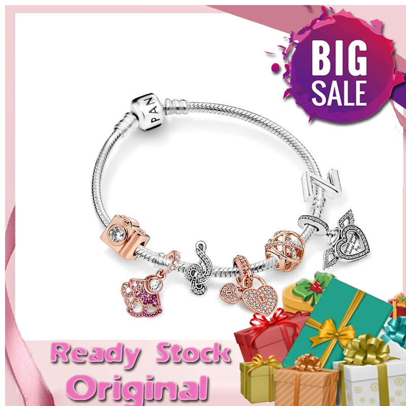 Pandora Silver Bracelets Name Teenager Zuo Linjie Same Paragraph Rose Golden Boy Charm Bracelet For Women Elegant Jewelry 925 Silver Gelang Suit Ladies Gift Box Shopee Philippines