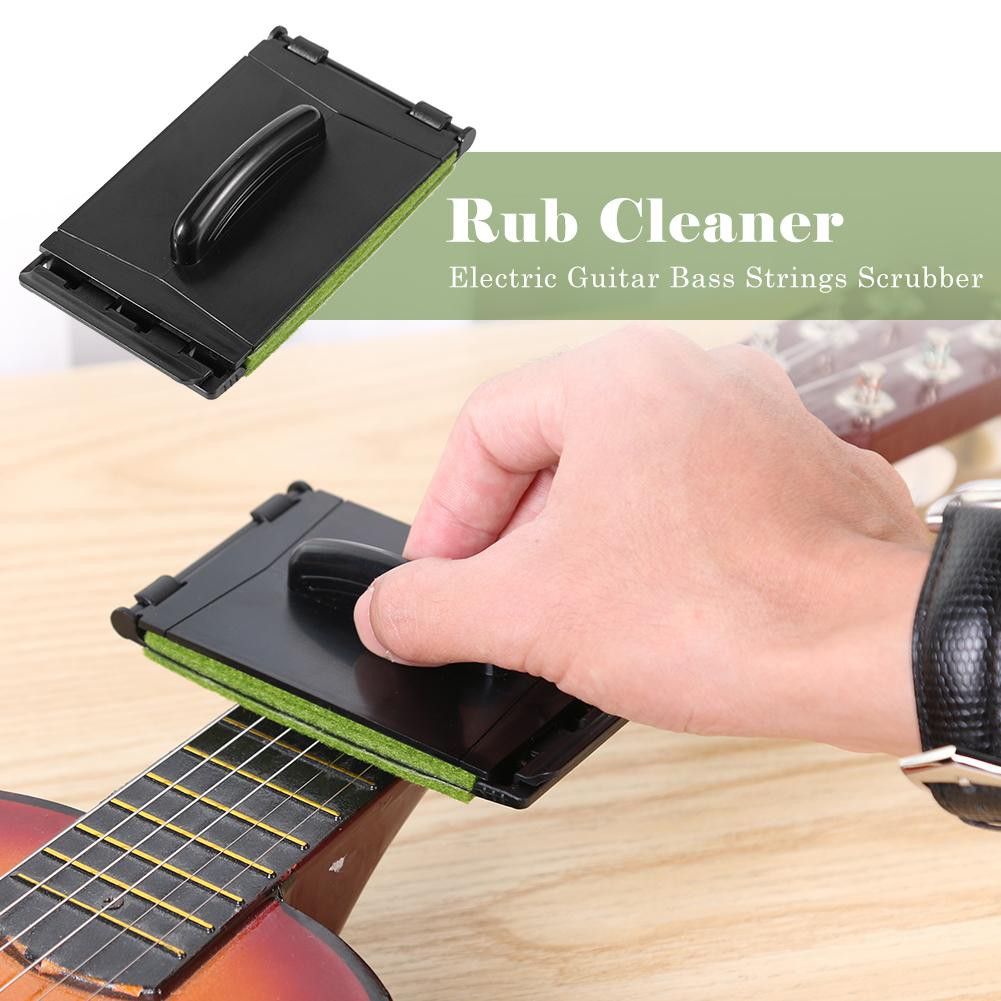 1pc Guitar Accessories Electric Guitar Bass Strings Scrubber Fingerboard Rub Cleaning Tool Maintenance Care Bass Cleaner Products Are Sold Without Limitations Sports & Entertainment Stringed Instruments