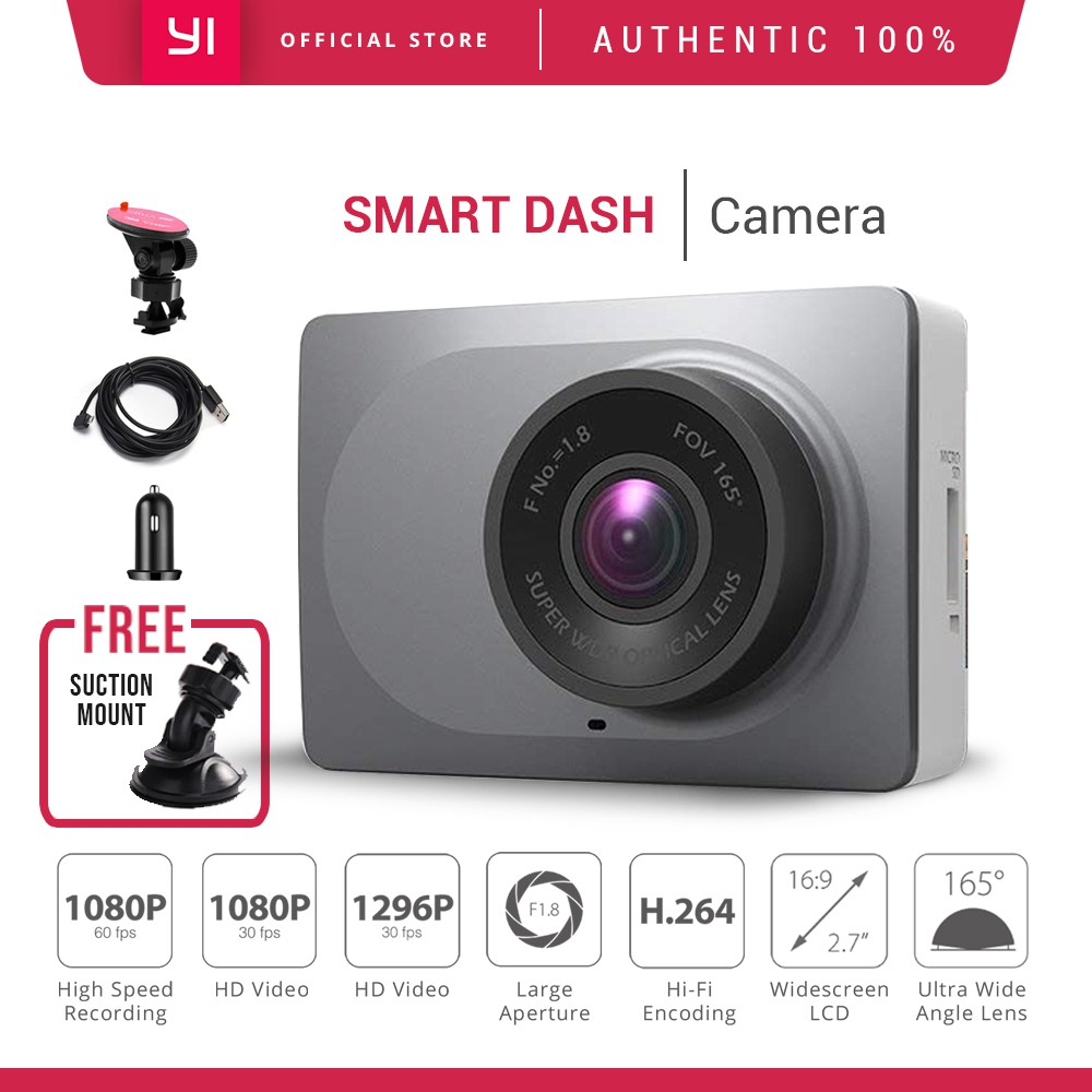 YI Smart Dash Camera 1080P ADAS w/ Suction Mount