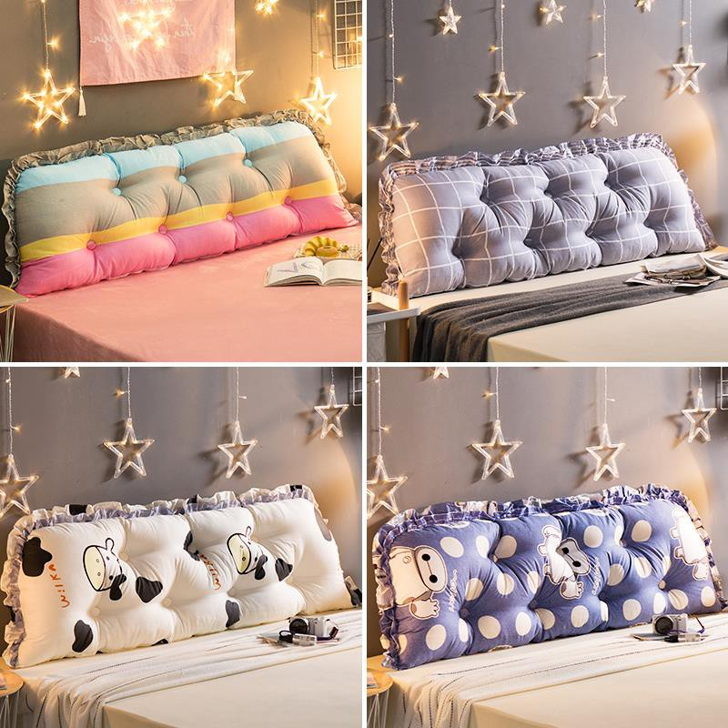 Cotton Bedside Board Padded Cushion Bed Pillow Big Back Washable