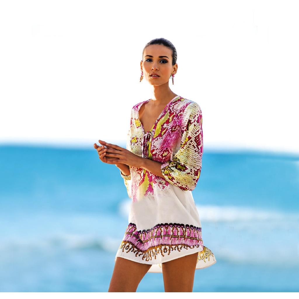 d9ea86e13d ProductImage. New Serpentine Chiffon Beach Coverup Bikini Swimwear Jacket